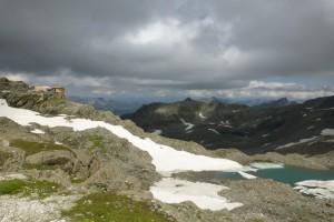 Stettiner Hütte auf 2875 m (Provisorium)