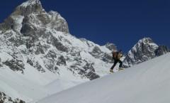 Der Ushba, 4700 Meter hoch.