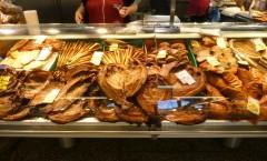 Räucherfisch im Großmarkt von Riga