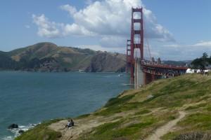 An beiden Enden der Golden Gate Bridge kann man sehr gut wandern